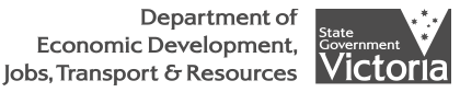 Logo - VIC Dept of Economic Development, Jobs, Transport & Resources