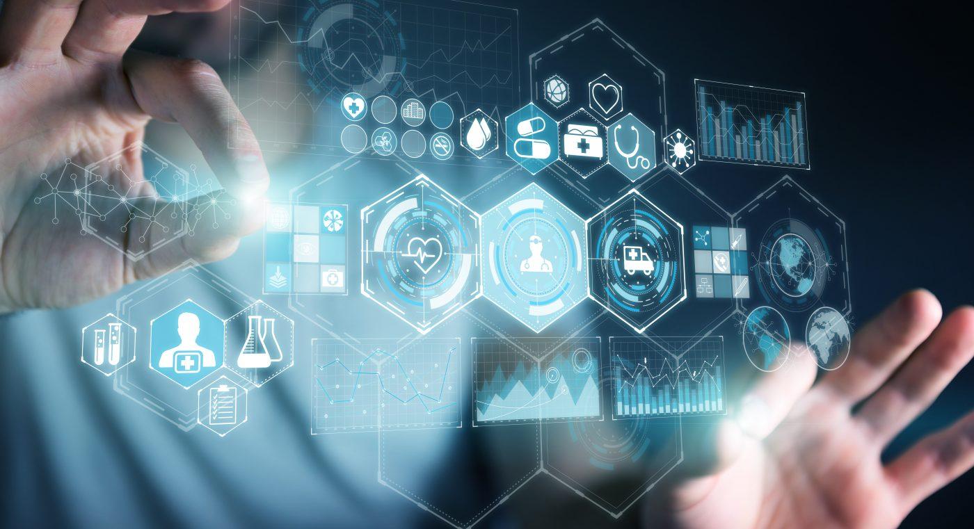 Futureistic health data visualisation