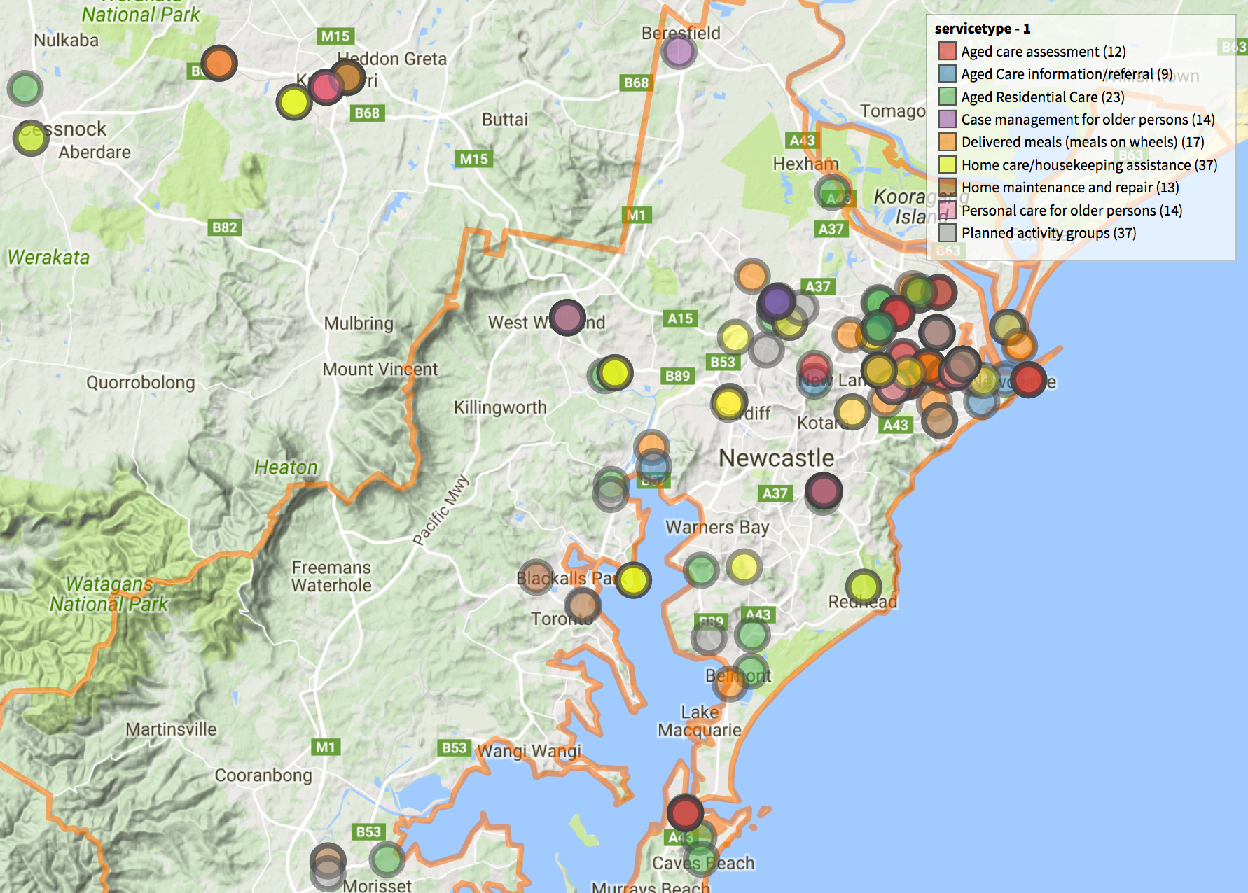 Mapping the National Health Services Directory AURIN Australian Urban Rese